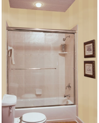 4  Signature Frameless Bypass Shower Enclosure